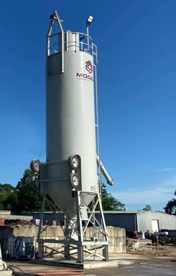 holcombe mixers 350bbl porable cement silo