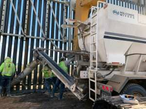 Holcombe Mixers at the Border Wall Project, Yuma, AZ